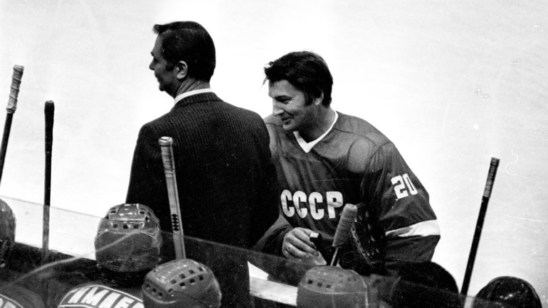 Виктор Тихонов иВладислав Третьяк. Фото Анатолий Бочинин
