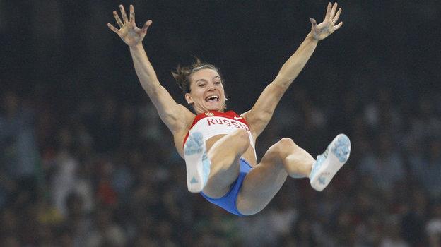 2008 год. Пекин. Радость вовремя победного прыжка наИграх. Фото Александр Вильф, -