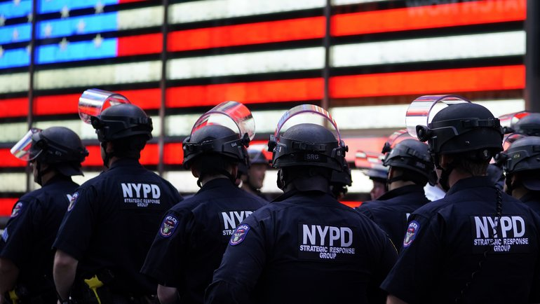 Полиция Нью-Йорка. Фото AFP