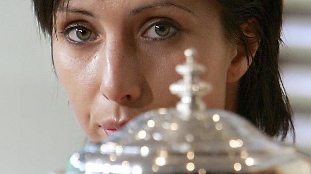 5июня 2004 года. Париж. Анастасия Мыскина  - первая российская теннисистка, победившая натурнире «Большого шлема». Фото AFP