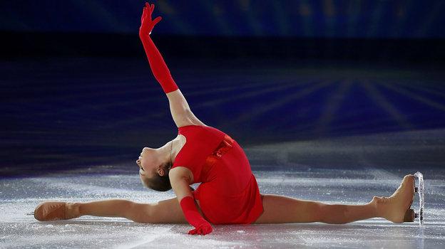 Выступление Юлии Липницкой вовремя показательной программы наОлимпиаде вСочи. Фото Reuters