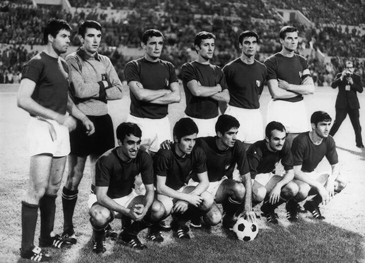 Сборная Италии 1968 года.
