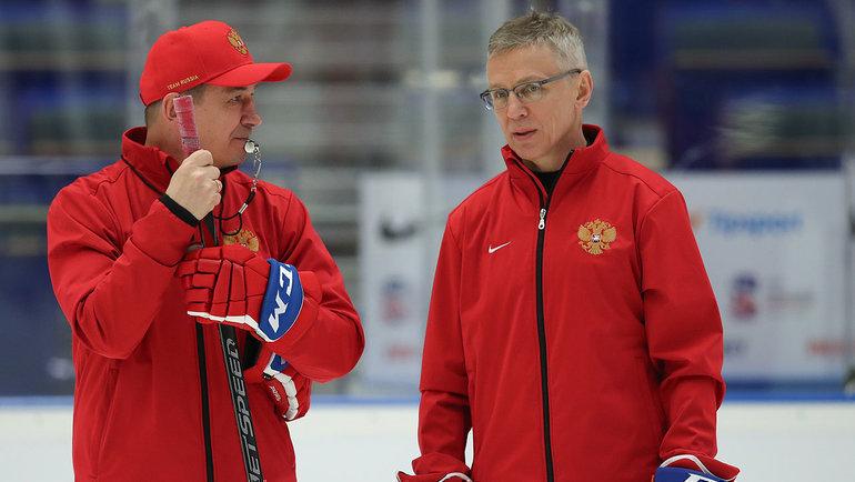 Валерий Брагин и Игорь Ларионов. Фото ФХР