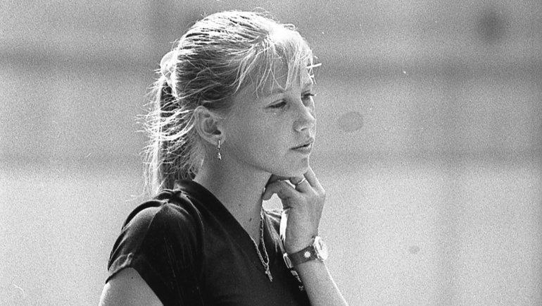 Анна Курникова натренировке в1995 году. Фото Дмитрий Солнцев, -