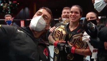 Нуньес дала Спенсер подержать чемпионский пояс
