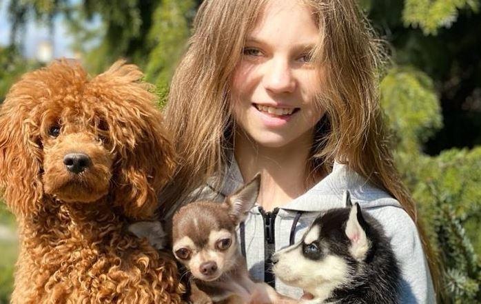 Александра Трусова ссобаками. Фото instagram.com