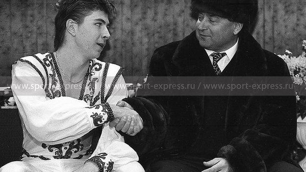 1996 год. Алексей Ягудин иАлексей Мишин. Фото Дмитрий Солнцев