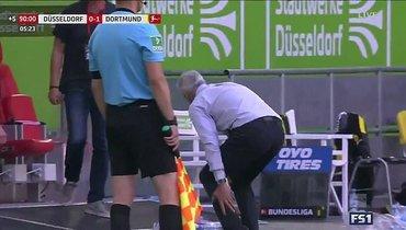 Тренер «Боруссии» Фавр получил травму, празднуя победный гол
