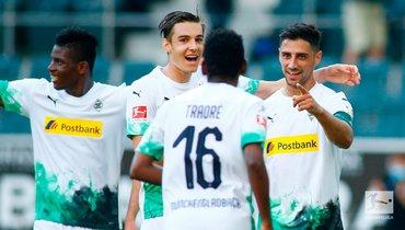 «Боруссия» Менхенгладбах обыграла «Вольфсбург» ивышла начетвертое место