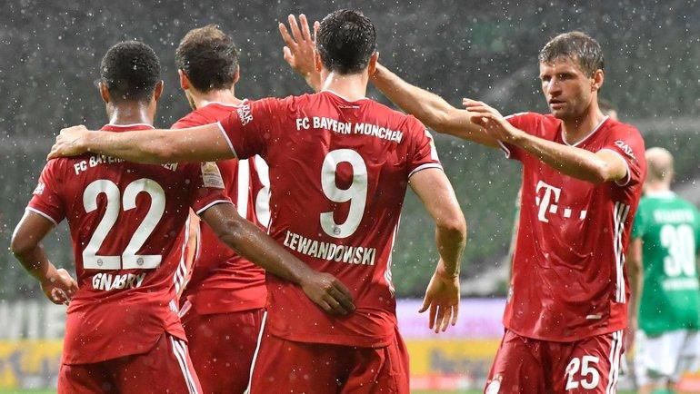«Бавария» обыграла «Вердер» истала чемпионом Германии. Фото AFP