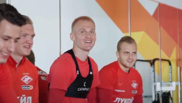 «Спартак» показал видео тренировки: Ребров покрасил волосы