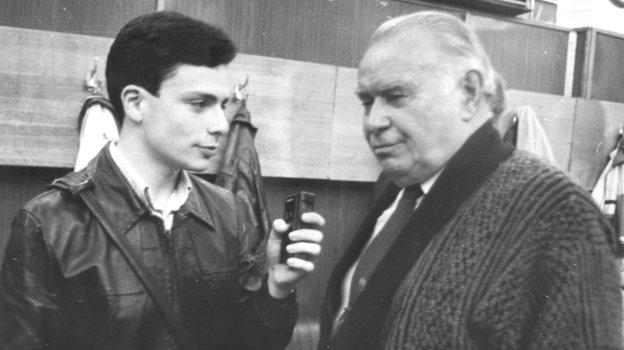 1992 год. «Асмарал»— «Спартак» (1:1). Игорь Рабинер иКонстантин Бесков.
