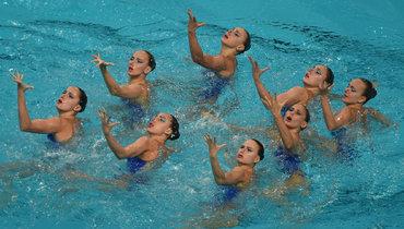Сборная России посинхронному плаванию.