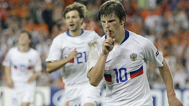 21июня 2008 года. Базель. Голландия— Россия— 1:3. Андрей Аршавин. Фото Reuters
