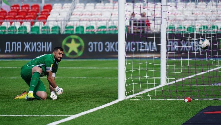 Вратарь «Тамбова» Георгий Шелия. Фото ФК «Уфа»