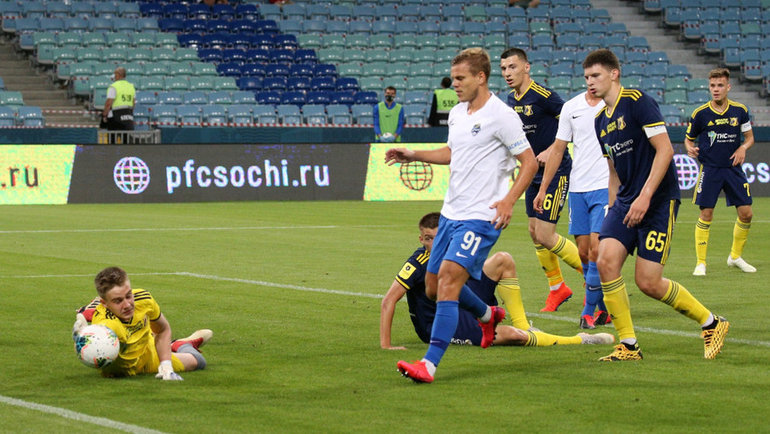 «Сочи» разгромил «Ростов» сосчетом 10:1 вматче 23-го тура РПЛ. Фото РПЛ0