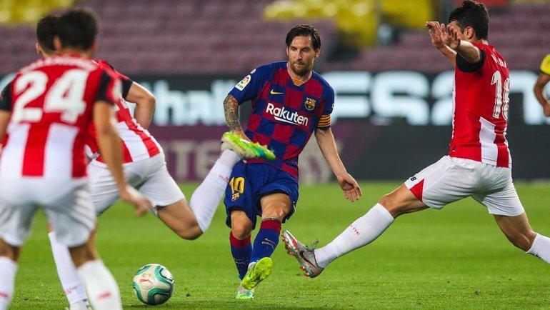23июня. Барселона. «Барселона»— «Атлетик»— 1:0. Лионель Месси (№10).