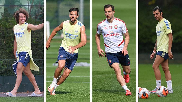 Давид Луиз, Пабло Мари, Седрик Суариш иДани Себальос. Фото ФК «Арсенал».