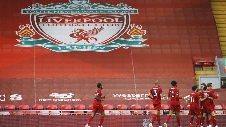 Игроки «Ливерпуля» на «Энфилде». Фото Reuters