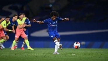 25июня 2020. «Челси»— «Манчестер Сити»— 2:1. Виллиан реализует победный пенальти.