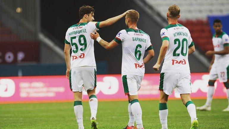 Алексей Миранчук, Дмитрий Баринов иВладислав Игнатьев. Фото instagram.com
