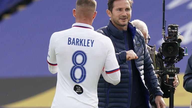 Росс Баркли иФрэнк Лэмпард. Фото twitter.com/ChelseaFC.