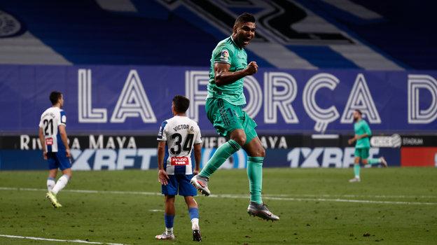 28июня. Корнелья-де-Льобрегат. «Эспаньол»— «Реал»— 0:1. Радость Каземиру. Фото Real Madrid