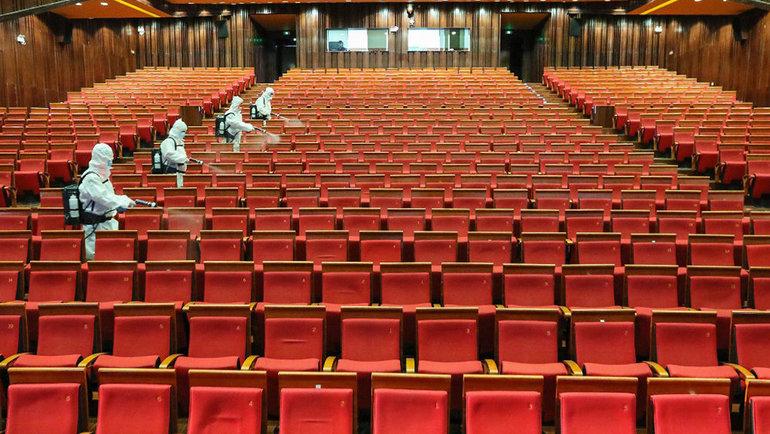 Кинотеатры во время коронавируса. Фото AFP