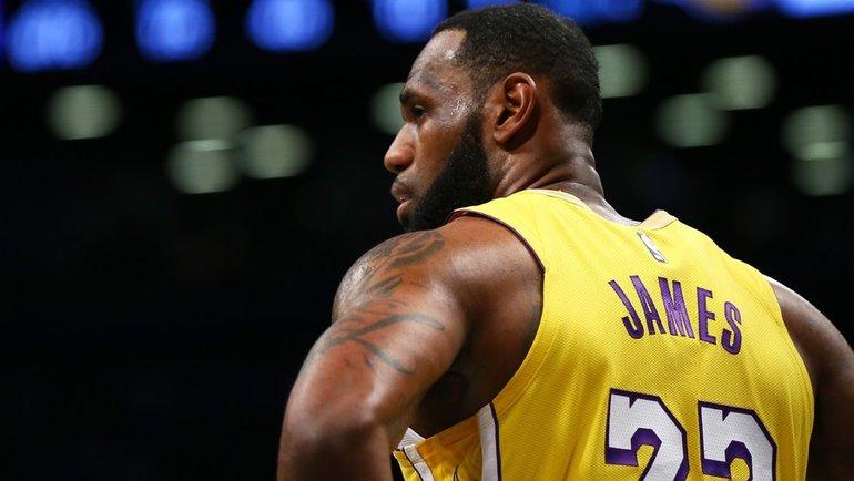 Форвард «Лейкерс» Леброн Джеймс. Фото AFP