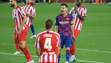 30июня. «Барселона»— «Атлетико»— 2:2. Лионель Месси.