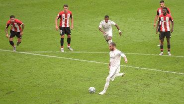 Гол Рамоса принес «Реалу» победу над «Атлетиком». Отрыв от «Барселоны»— 7 очков