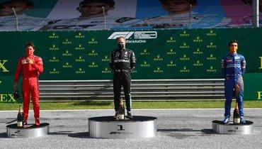 Первый подиум сезона в «Формуле-1». Ссоблюдением социальной дистанции