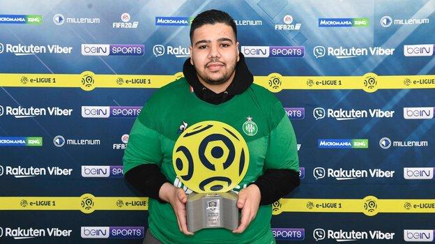 Амин «Mino» Буганми— чемпион Франции поFIFA 20. Фото e-Ligue1