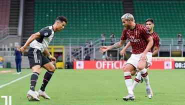 «Милан» переиграл «Ювентус». Ибрагимович иРоналду отметились голами