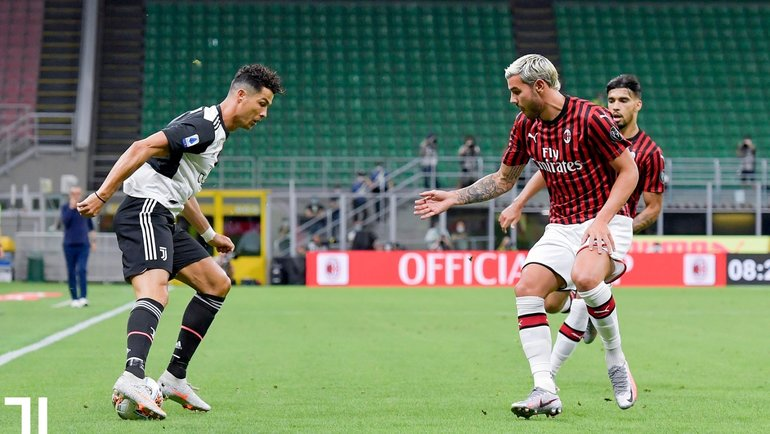 7июля. «Милан»— «Ювентус»— 4:2. Фото Twitter