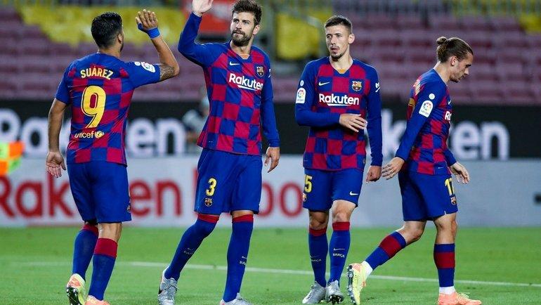 8июля. «Барселона»— «Эспаньол»— 1:0. Радость хозяев. Фото Twitter