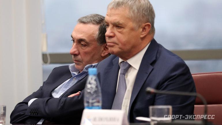 Евгений Гинер иАлександр Медведев (справа). Фото Федор Успенский, «СЭ» / Canon EOS-1D X Mark II