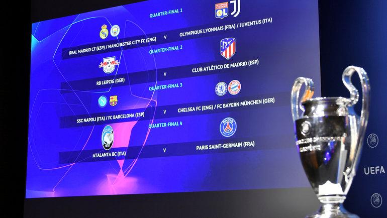 10июля. Ньон. Жеребьевка Лиги чемпионов. Фото Reuters