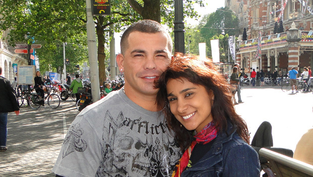 Артуро Гатти с женой Амандой Родригес. Фото CBS