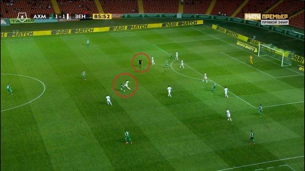 «Ахмат»— «Зенит»: почему Вилков неудалил игрока хозяев?