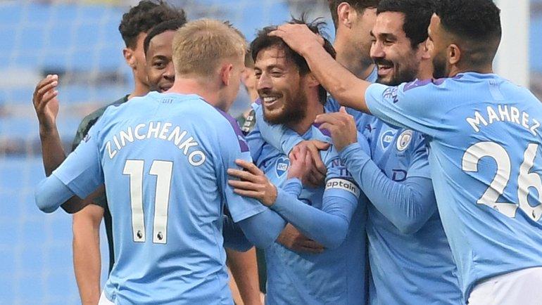 Игроки «Манчестер Сити». Фото AFP