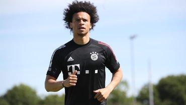 Сане провел первую тренировку с «Баварией»