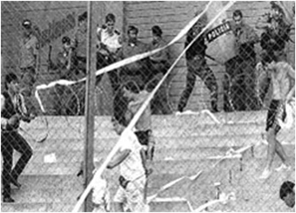Столкновения болельщиков сборных Гондураса и Сальвадора. Фото Википедия.