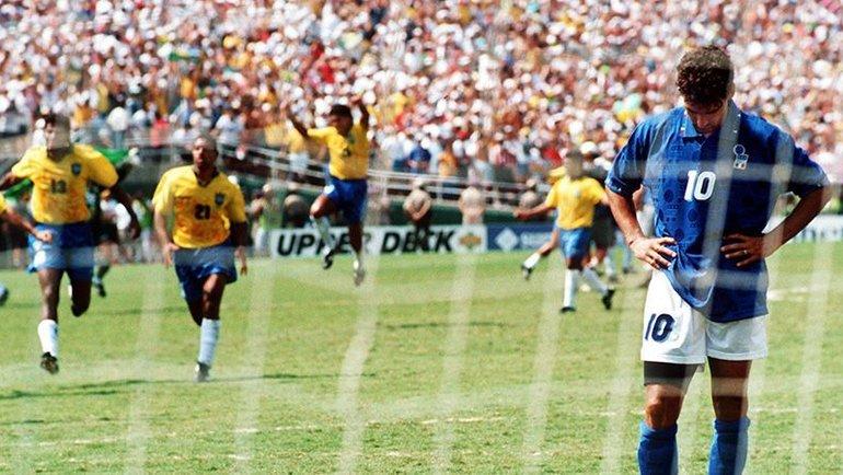 Роберто Баджо незабил пенальти вфинале ЧМ-1994. Фото Four-Four-Two