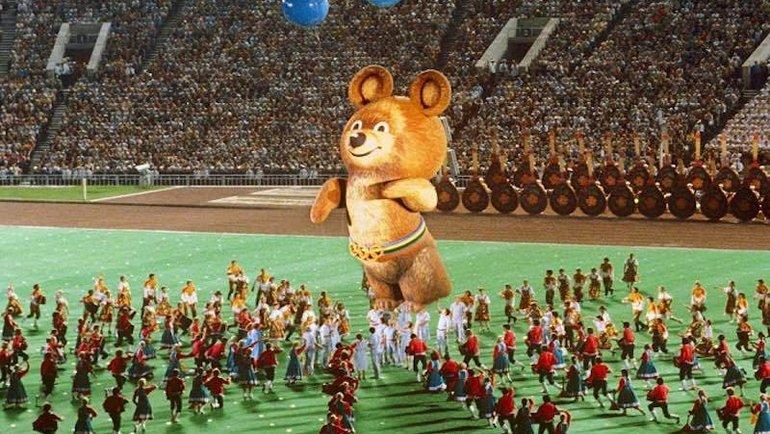 Талисман Игр вМоскве Олимпийский Мишка нацеремонии закрытия. Фото i-fakt.ru