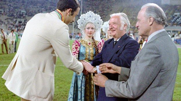 Валерий Газзаев, лорд Килланин иЖоао Авеланж. Фото Игорь Уткин