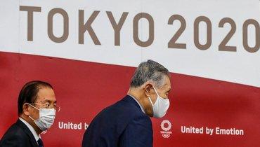 Глава оргкомитета «Токио-2020» Есиро Мори иисполнительный директор комитета Игр вЯпонии Тосиро Муто.