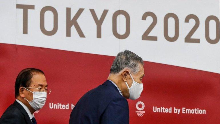 Глава оргкомитета «Токио-2020» Есиро Мори иисполнительный директор комитета Игр вЯпонии Тосиро Муто. Фото AFP