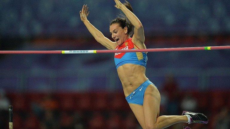 Елена Исинбаева. Фото AFP