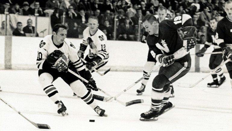 Форвард «Миннесоты Норд Старз» Билл Мастертон (справа). Фото НХЛ